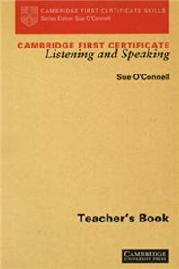 Cambridge First Certificate Listening and Speaking Teacher's book (Cambridge First Certificate Skills) download ebook