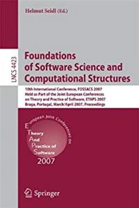 Foundations of Software Science and Computational Structures: 10th International Conference, FOSSACS 2007, Held as Part of the Joint European ... (Lecture Notes in Computer Science) download ebook